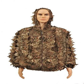 2017 New  Forest Clothes Camouflage Clothes Suit Leaves Men Clothing Hunting Clothes Camping Equipment  Sports Clothing