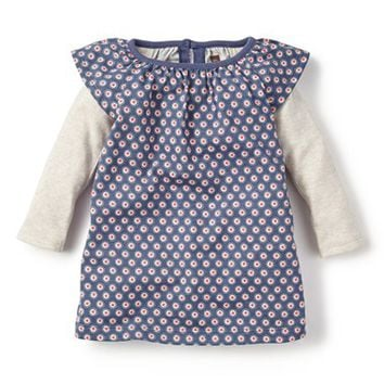 Infant Girl's Tea Collection 'La Planta' Print Layered Dress,