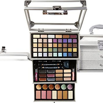 Ulta Time to Shine 71 Piece Collection Silver Train Case