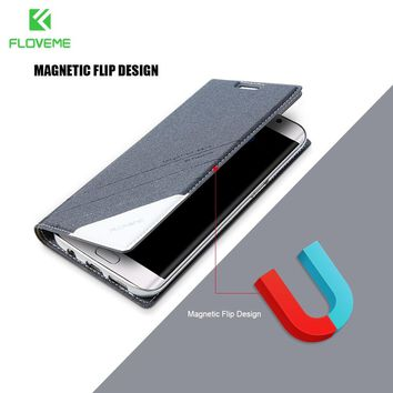 FLOVEME Wallet Flip Case For Samsung Galaxy S8 S7 S6 Edge Plus Card Holder Phone Bag Case For Samsung S8 Plus S7 S6 Note 5 4