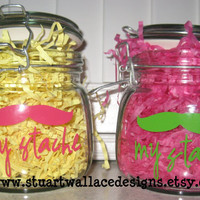 My Stache' Catch All Jar for TheWhatNots by StuartWallaceDesigns