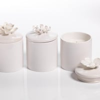 Porcelain Flower Scented Candles
