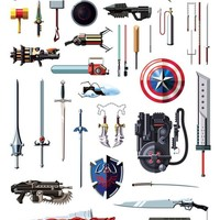 """Famous Weapons"" - Art Print by Daniel Nyari"