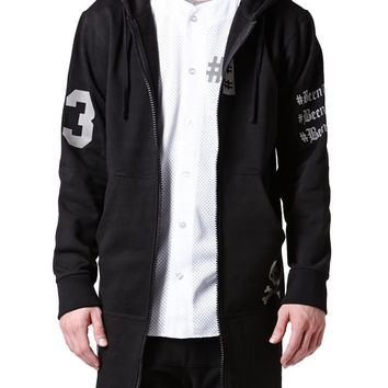 Been Trill Long Zip Up Hoodie - Mens Hoodie - Black