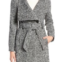 GUESS Water Resistant Asymmetrical Trench Coat | Nordstrom