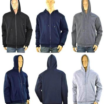 Men's Assorted Thermal Hoodies with Sherpa Lining - CASE OF 24
