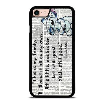 LILO AND STITCH QUOTES Disney iPhone 8 Case