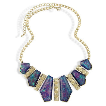 Purple Statement BiB Necklace