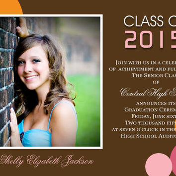 Graduation Annnouncement, Graduation Invitation, Photo Announcement, Photo Invitation, Printable Announcement, DIY Invitation