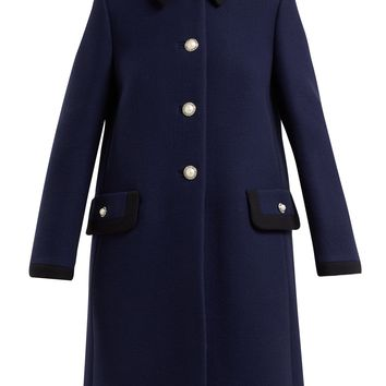 Embellished wool coat | Miu Miu | MATCHESFASHION.COM US