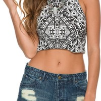 BILLABONG TURN TO ME CROP HALTER TANK