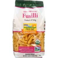 Field Day Pasta - Organic - Traditional - Fusilli - 16 Oz - Case Of 12