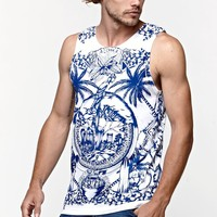 Young & Reckless City Of Aloha Tank Top - Mens Tee - White