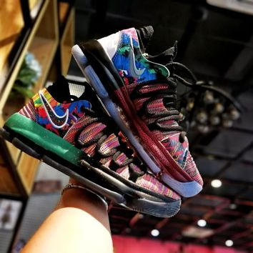"Nike Kevin Durant KD 10 ""What The"" Basketball Shoe"