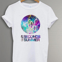 Seconds of Summer  Shirt The 5 SOS  t-Shirt Symbol  Black and White  For Men Or Women Size TS 22