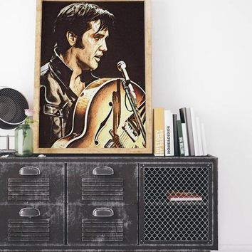 Elvis Presley Poster Art Painting Print Canvas
