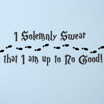 I Solemnly Swear - Harry Potter wall decal
