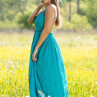 Prophetic Perspectives Maxi Dress, Turquoise