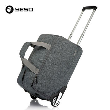 Trolley Travel Bag Hand Luggage 20inch 32L Rolling Duffle Bags Waterproof Oxford Suitcase On Wheels Carry On Luggage Unisex YESO