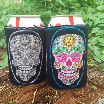 Day of the Dead Skull Koozie