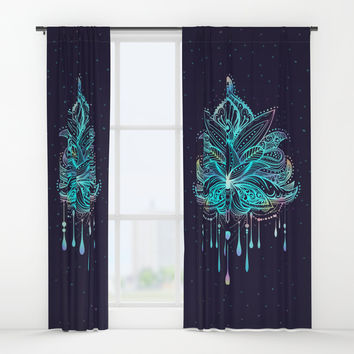 Mandala Window Curtains by printapix
