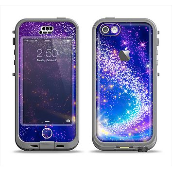The Glowing Pink & Blue Comet Apple iPhone 5c LifeProof Nuud Case Skin Set