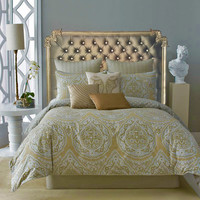 """Tufted headboard """"Elizabeth"""" with scroll design, made to order."""