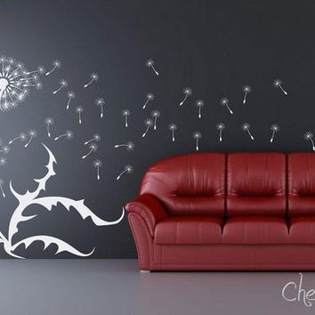 Dandelion wall decal Wall Sticker Dandelions with by CherryWalls