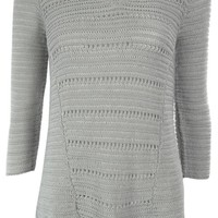 Style & Co. Women's Linen Cotton Knit Pullover