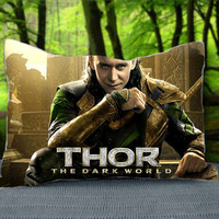 "LOKI Tom Hiddleston From Thor The Dark World Marvel The Avengers Custom Pillow Case 30"" x 20"""