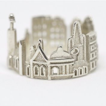 Stockholm Cityscape Statement Ring