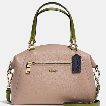 COACH PRAIRIE SATCHEL IN COLORBLOCK PEBBLE LEATHER | Dillards