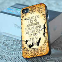 Peter Pan Quote Vintage - Rubber or Plastic Print Custom - iPhone 4/4s, 5 - Samsung S3 i9300, S4 i9500 - iPod 4, 5