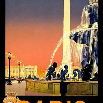 Paris France Travel Poster 11x17