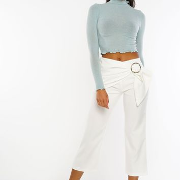 90210 Cropped Trousers - White