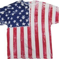 Amazon.com: FR101 - Frank Allover American Flag Vertical T-Shirt: Clothing