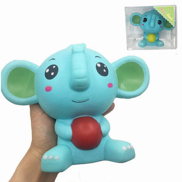 Squishy Elephant Jumbo 17cm Slow Rising With Packaging Collection Gift Decor Soft Toy