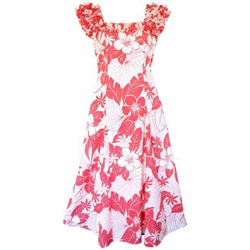 Haven Coral Leilani Hawaiian Muumuu Dress