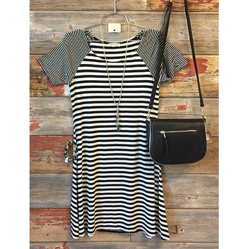 Fall Nights Striped Dress