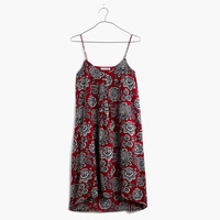 Silk Trapeze Cami Dress in Italian Floral