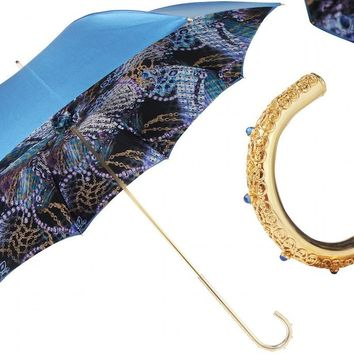 Pasotti Blue Emerald Umbrella