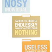 Knock Knock 'Useless, Nothing, Nosy' File Folders (Set of 6)