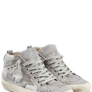 Super Star Metallic Leather and Suede Sneakers - Golden Goose | WOMEN | US STYLEBOP.COM