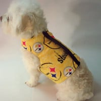 RockinDogs NFL Team Logo Cotton Dog Harness-Many Teams Available