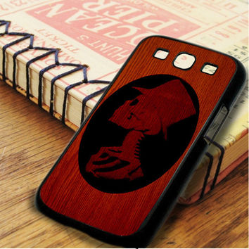 Wood Skeleton Black Silhouete Samsung Galaxy S3 Case