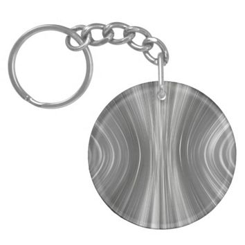 Gray Mist Driving Dreams Circle Keychain