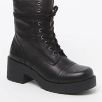 Steve Madden Dreamer Lace-Up Boots - Womens Boots - Black