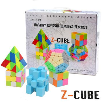 Zcube New 5PCS /Pack 2, 3 layers, Megaminx cube, Mirror, Pyraminx cube Professional Speed Magic Cube Stickerless Puzzle Cube