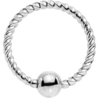 """18 Gauge 5/16"""" So Twisted Captive Style Seamless Ring"""