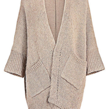 Apricot Cardigan with Pockets